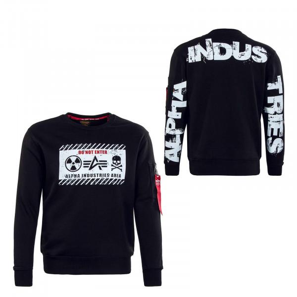 Herren Sweatshirt - Radioactive - Black / White