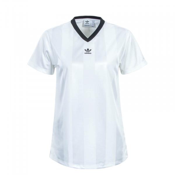Damen T-Shirt Blanc White