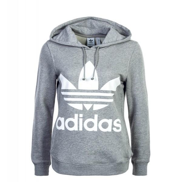 Adidas Wmn Hoody Trefoil Grey White
