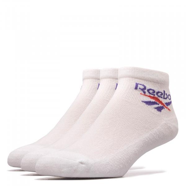 Reebok Socks 3Pk CL Lost Found White