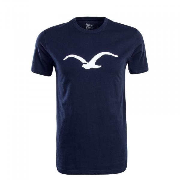 Herren T-Shirt Möwe Navy White