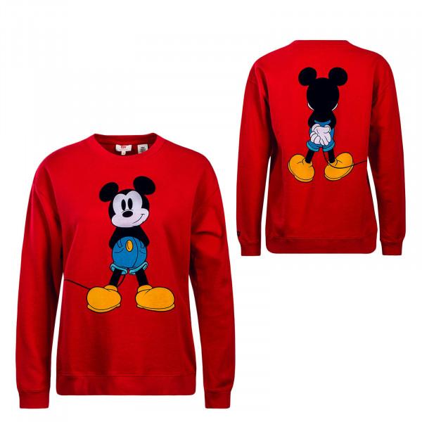 Damen Sweatshirt Graphic Shoulder Mickey