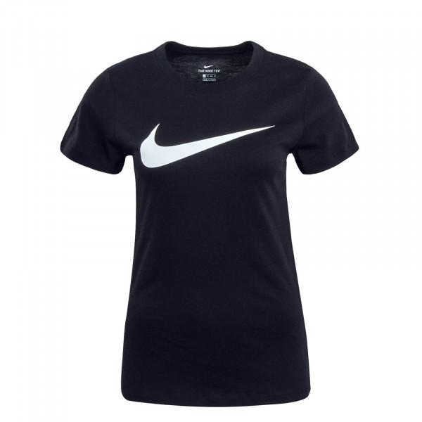 Damen T-Shirt NSW Swoosh Black White