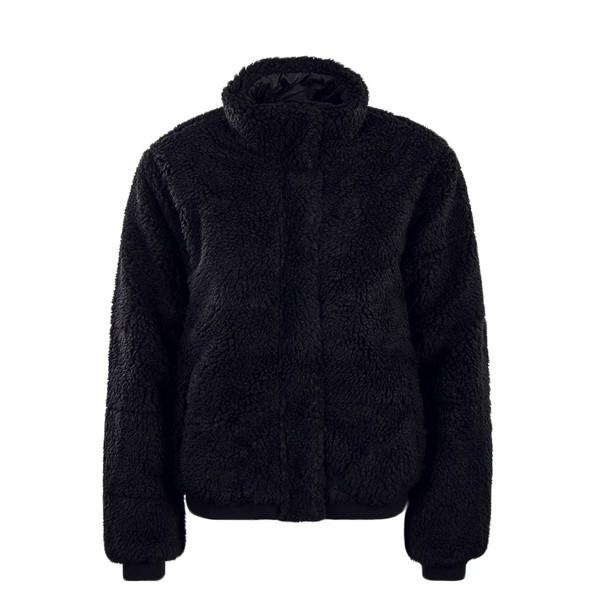 Ck Wmn Jkt Polar Fleece Puffer Black