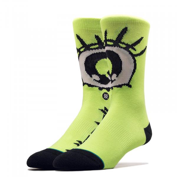 Unisex Socken Billie Eilish Eyes Neon Green