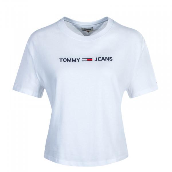 Damen T-Shirt Modern Linear Logo Tee 8615 White