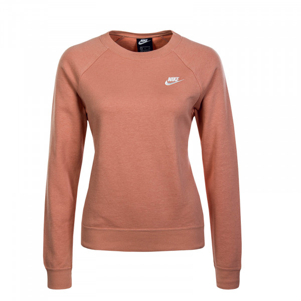 Damen Sweatshirt 4110 Crew Old Rose White