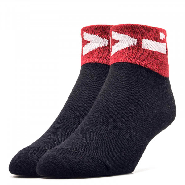 Socken 2er-Pack 168SFMid Cut Lazy Black Red