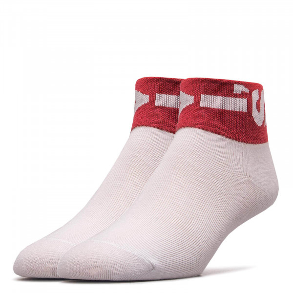 Socken 2er-Pack 168SFMid Cut Lazy White Red