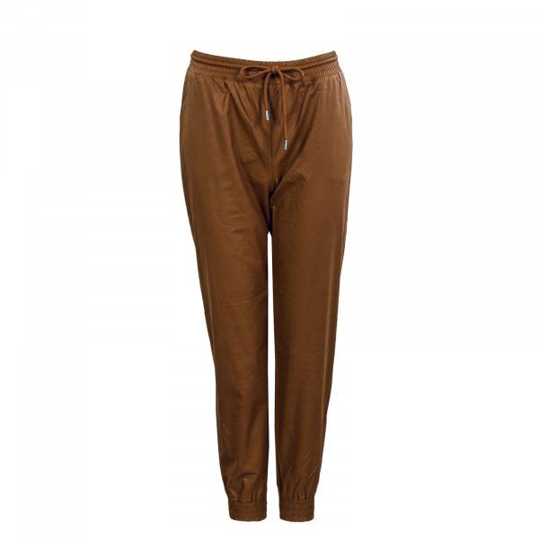 Damen Hose - Mady MW Faux Leather Pant - Argan Oil
