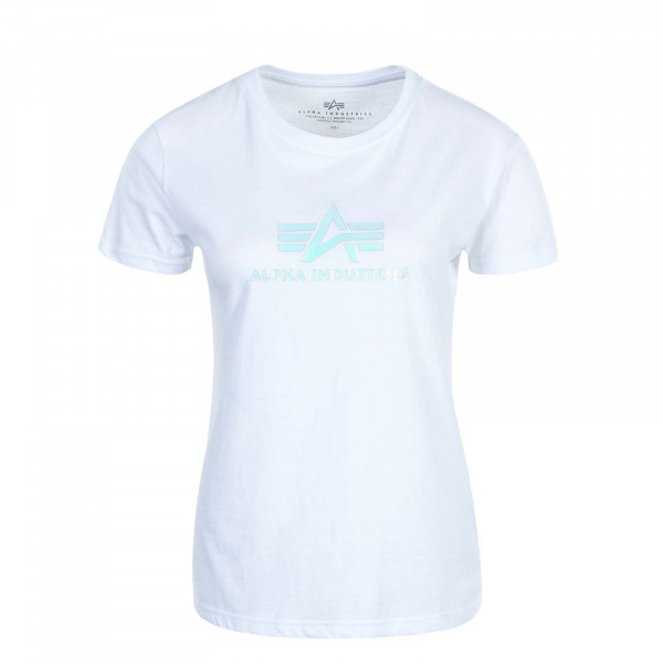 Damen T-Shirt Rainbow White