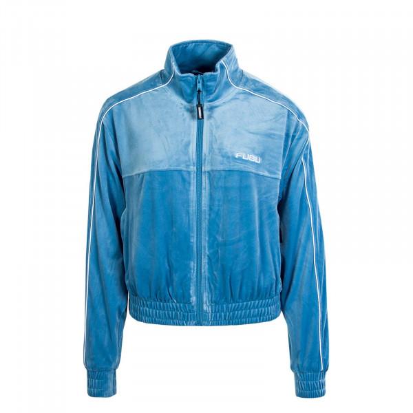 Damen Jacke Track Corporate Velours Blue White