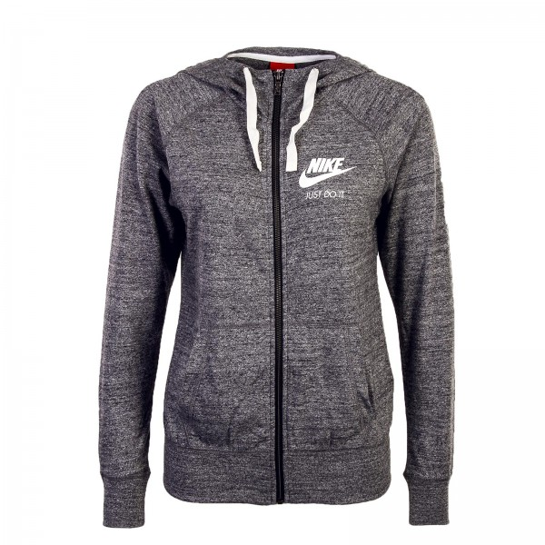 Nike Wmn Sweatjkt Gym Carbone Grey