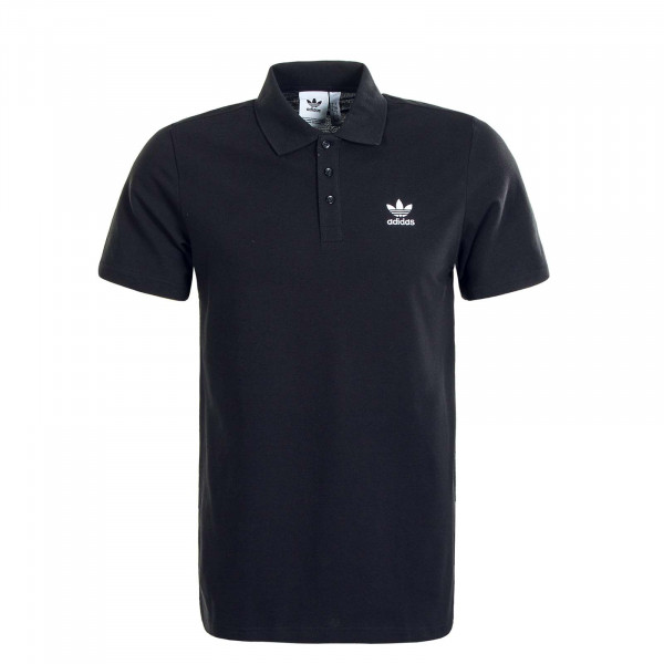 Herren Poloshirt Essential Black White