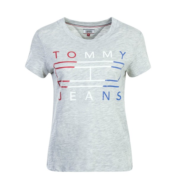 Tommy Wmn TS Clean Tommy Flag Grey