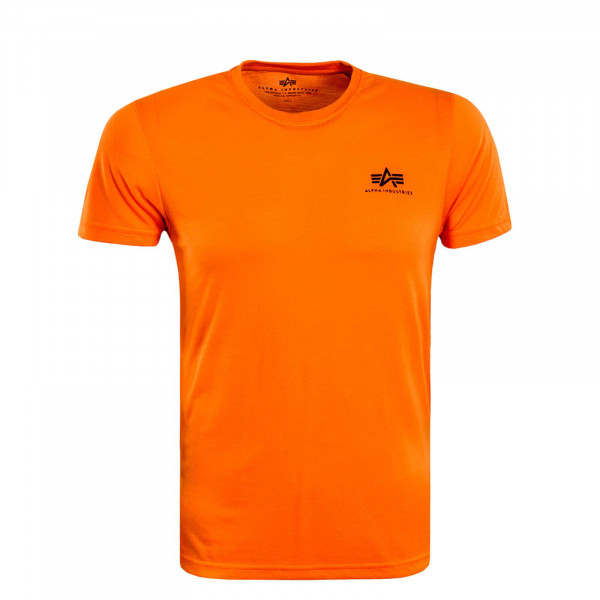 Herren T-Shirt Small Basic Neon Orange Black