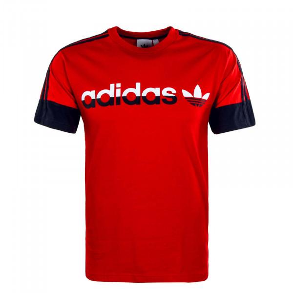 Herren T-Shirt - 3 Stripe Split - Red
