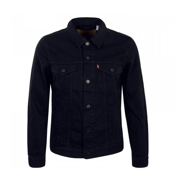 Herren Jacke Jeans Trucker Berk Black