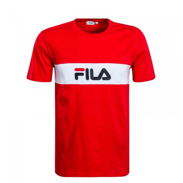 Herren T-Shirt Nolan Red White