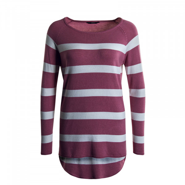 Damen Longsleeve Selena Stripe Rose White