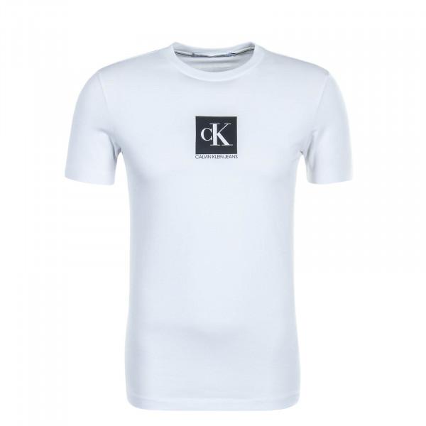 Herren T-Shirt Center Monogram Box White