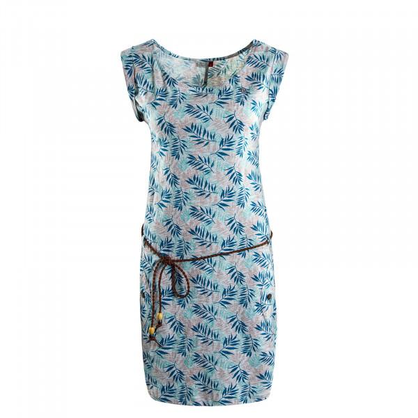 Kleid Tag Leaves Light Grey Mint