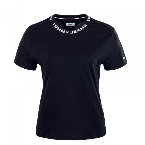 Damen T-Shirt Branded Black