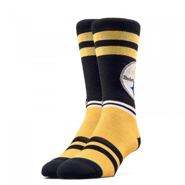Stance Socks NFL Steelers Logo Yellow