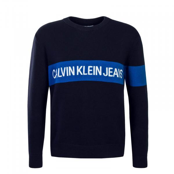 Herren Strick-Pullover Institutional Navy Blue