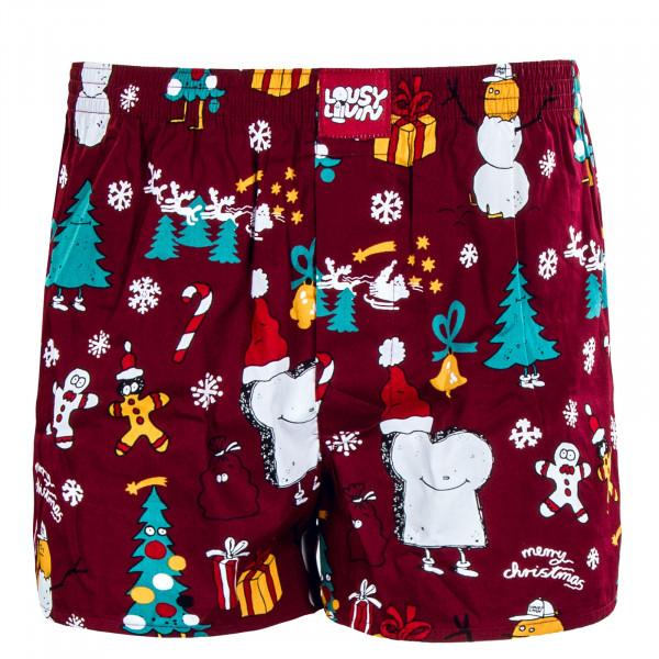 Herren Boxershorts - Merry Merry -  Burgundy