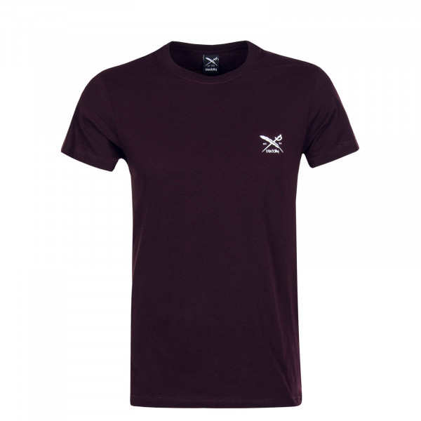 Herren T-Shirt Chestflag Aubergine