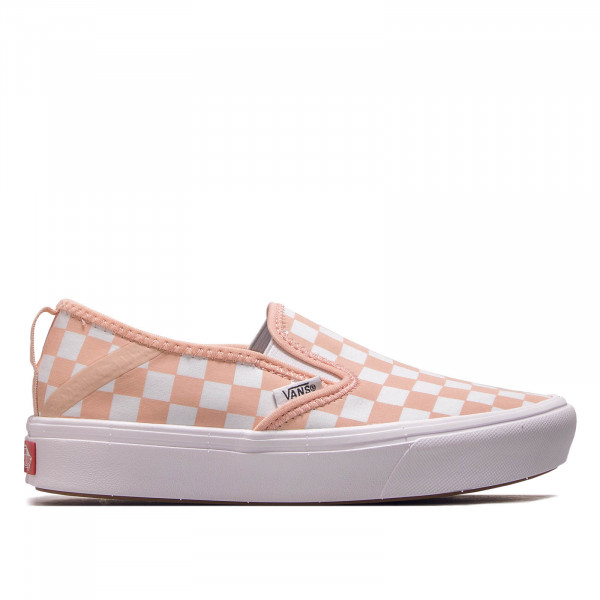 Vans Damen Sneaker Comfycush Slip Checker White Peach