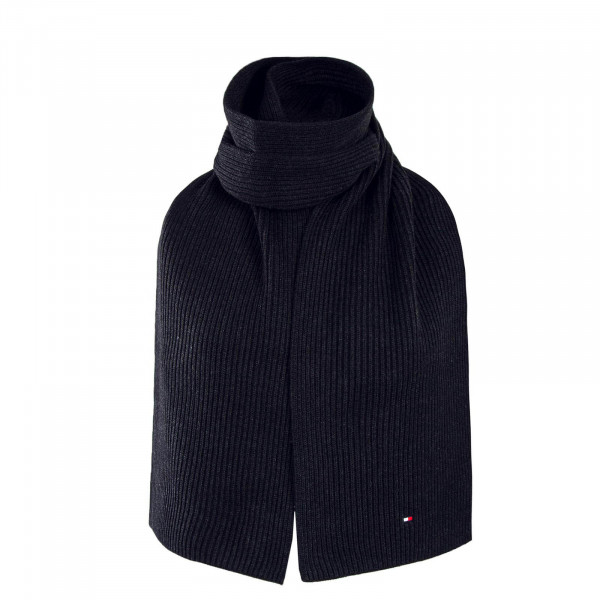 Tommy Scarf Pima Cotton Black Melange