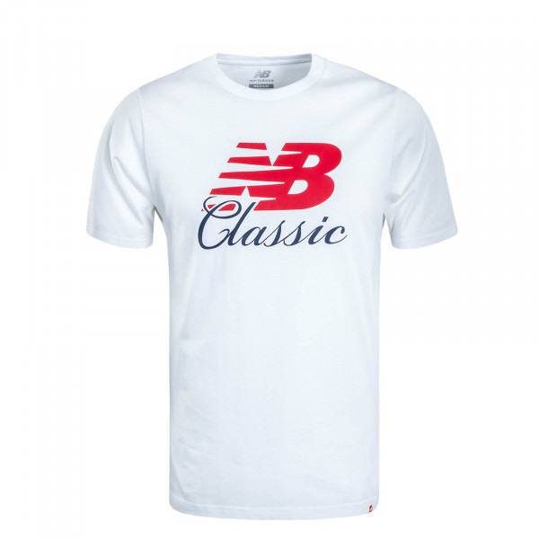 Herren T-Shirt MT91588 White Red Navy