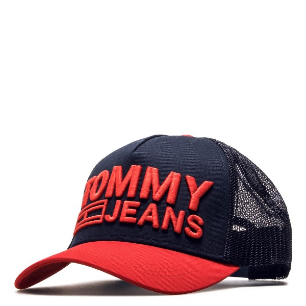 Tommy Cap Trucker  TJM Logo Navy Red