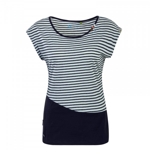 Damen Top Ninon Stripe White Navy