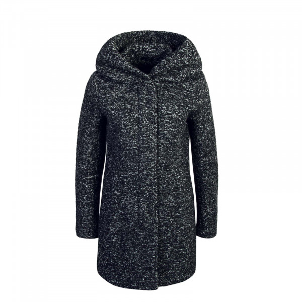 Only Mantel Wool Sedona Boucle Dk Grey