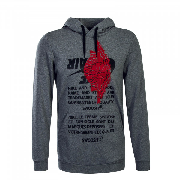 Jordan Hoody Jumpman Grey Red