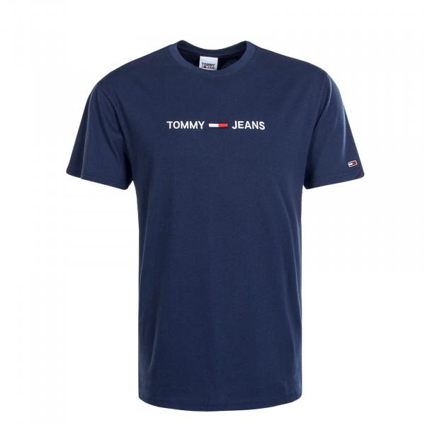 Herren T-Shirt Straight Logo 9382 Twilight Navy