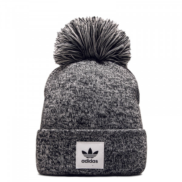Beanie Melange Bobble Grey Black