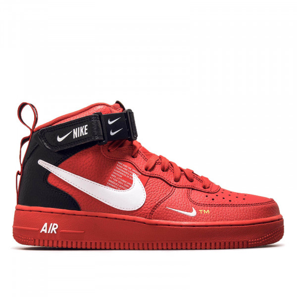 Nike Air Force 1 Mid Red White Black