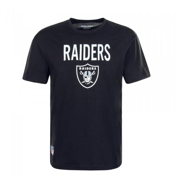Herren T-Shirt NFL Raiders Black White