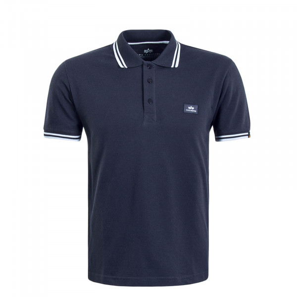 Herren Polo Twin Navy White