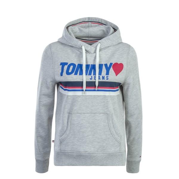 Tommy Wmn Hoody TJW Logo Grey
