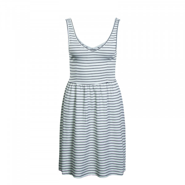 Dress V-Neck JRS Beige Blue