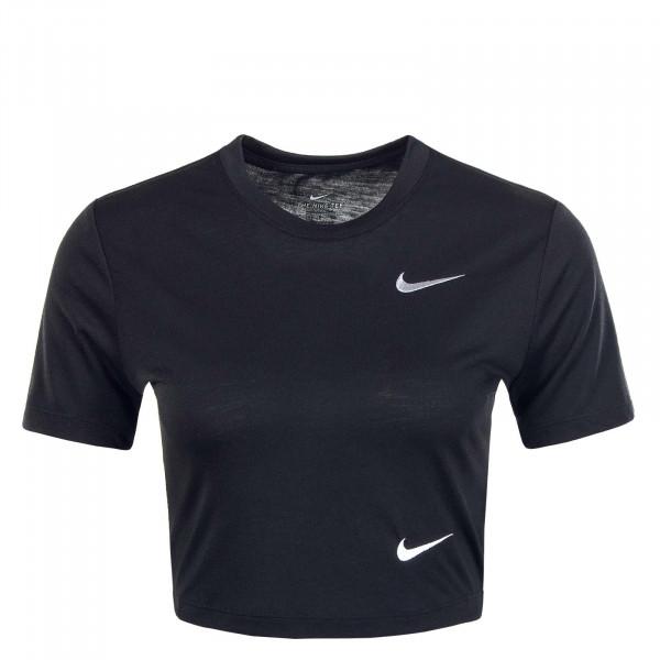 Damen T-Shirt NSW Slim Crop LBR Black