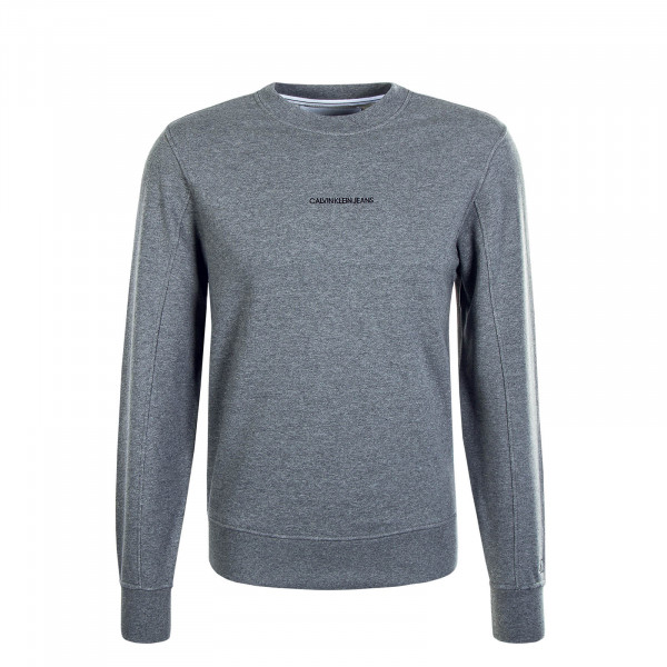 Herren Sweater Institutional Chest Logo Grey
