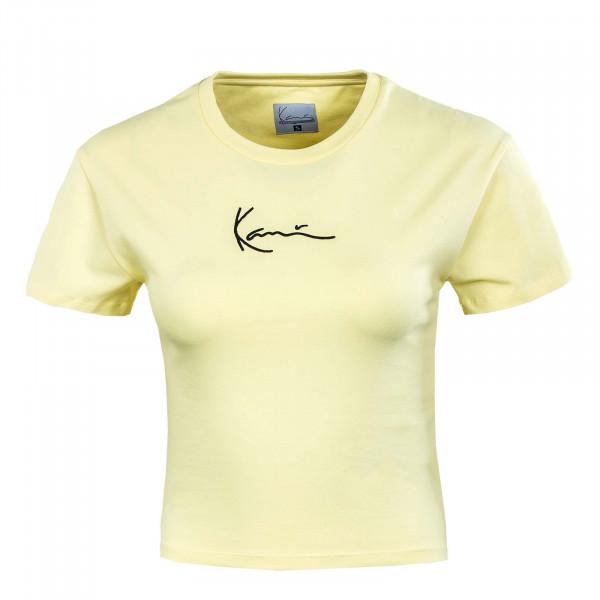 Damen T-Shirt - Small Signature Short - Light Yellow