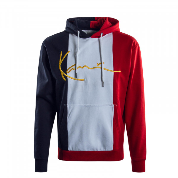 Herren Hoody Signature Block White Red Navy