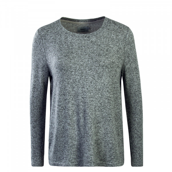 Damen Longsleeve Knit Maye Draped  Grey